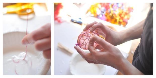 Lavoretti pasquali: decorazioni a forma di uovo, parte 1, da craftwhack.com