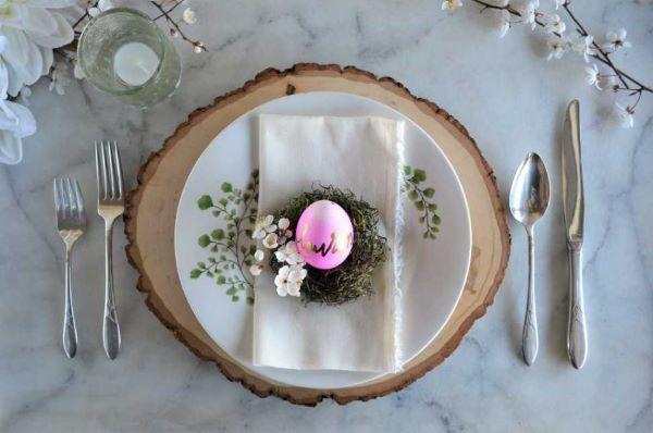 Decorazioni pasquali per la tavola: segnaposto su Sagatosilver.com