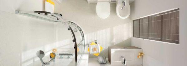 La linea Connect Space di Ideal Standard è adatta ai bagni piccoli