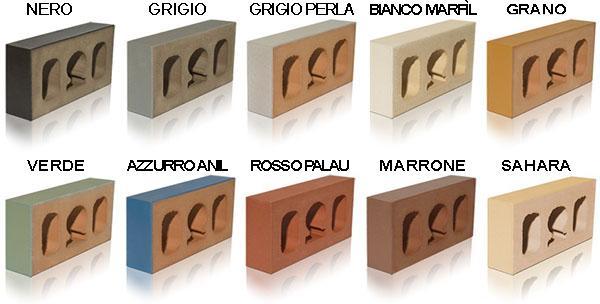Mattoni di klinker colorato di Palautec