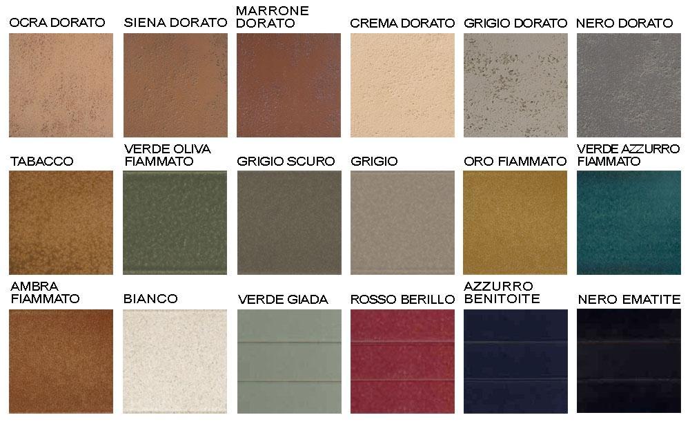 Colori delle piastrelle per rivestimento di klinker di Buchtal Italia