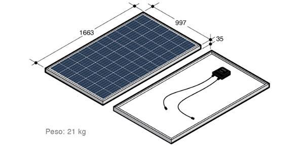 Dimensioni dei pannelli fotovoltaici decorativi di Invent