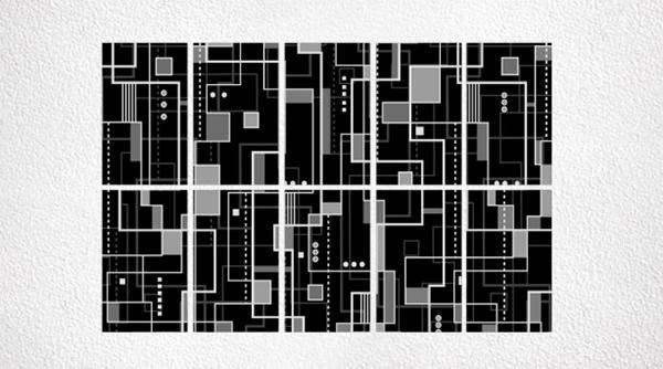 Pannelli fotovoltaici decorati Bauhaus by Invent