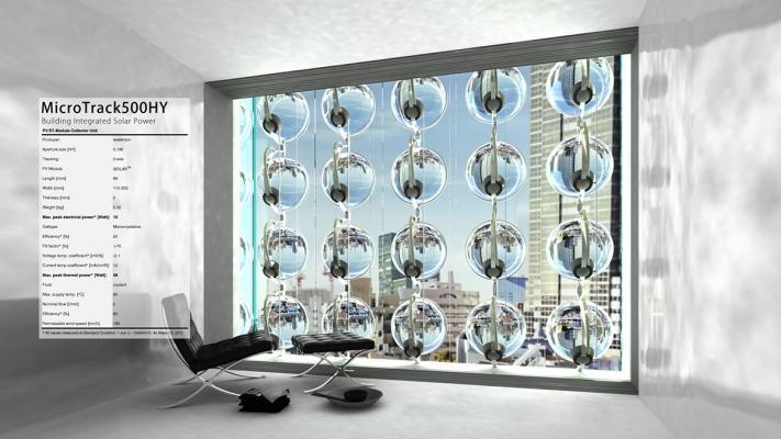 Celle fotovoltaiche sferiche MT80 di Rawlaemon