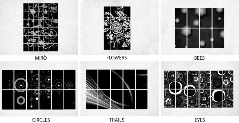 Modelli di pannelli fotovoltaici decorativi di Invent