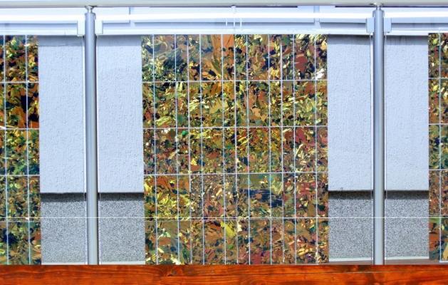 Pannelli fotovoltaici decorativi per parapetti di Crane