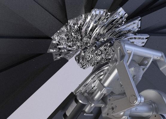 Particolare dell'impianto fotovoltaico innovativo smartflower