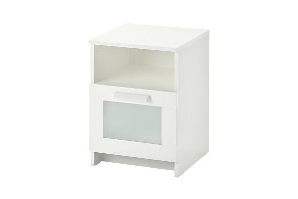 Comodino Brimnes Ikea per stanza da letto moderna