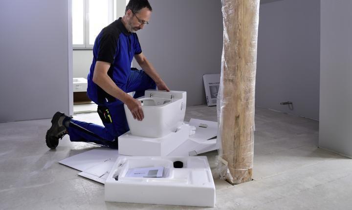 Posa wc bidet TECEOne di TECE Italia