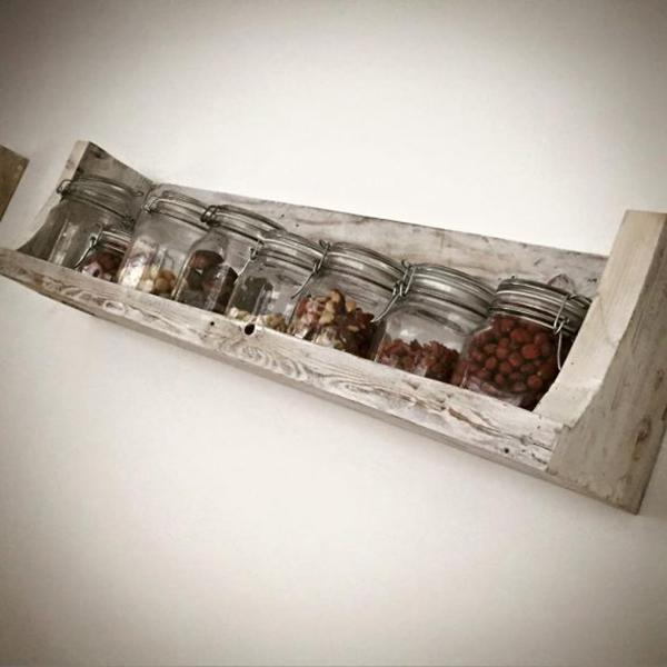 Mensola cucina legno riciclato - Wanos