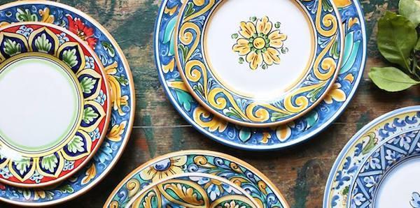 Set di piatti in ceramica decorati Maremoro