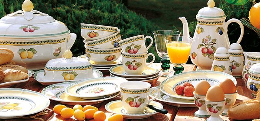 Servizio da colazione in stile tradizionale French Garden, proposte Villeroy&Boch per l'estate 2019