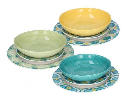 Set piatti Tognana: collezione Metropolis, linea Jungle in porcellana e ceramica