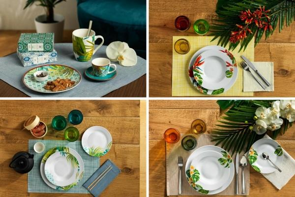 Set piatti Tognana: le linee ispirate alla natura, Alexia, Tropical, Swami e Jungle