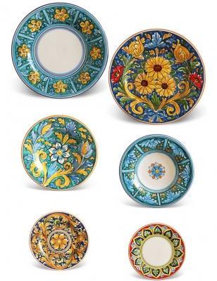 Set per due persone Ciuri - piatti in ceramica Maremoro