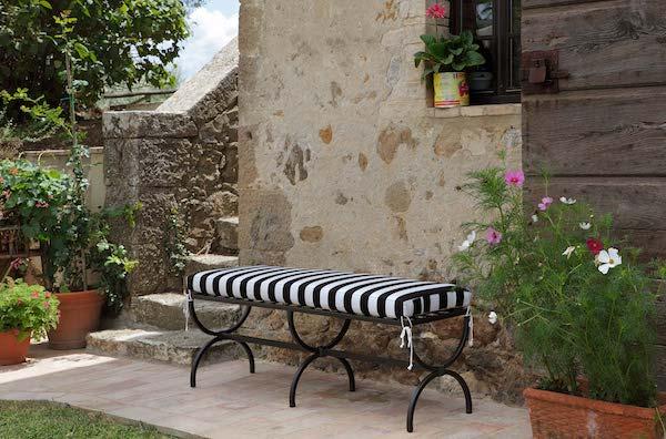 Panca in ferro battuto Impero - Design by Gaia