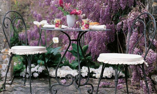 Tavolino in ferro battuto Aurora - design by Unopiù