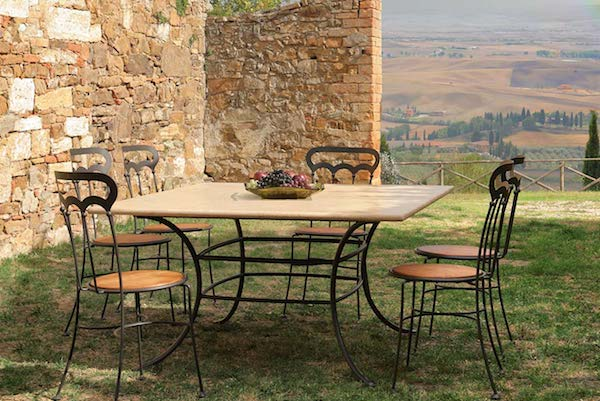 Tavolo Sirio in ferro battuto - collezione Gaia Classic