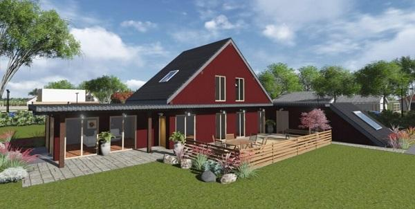 Villa prefabbricata in legno di Frame House SIA