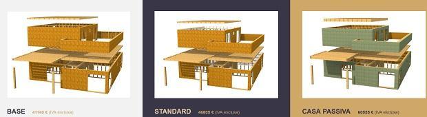 Modelli case prefabbricate in legno di Frame House SIA