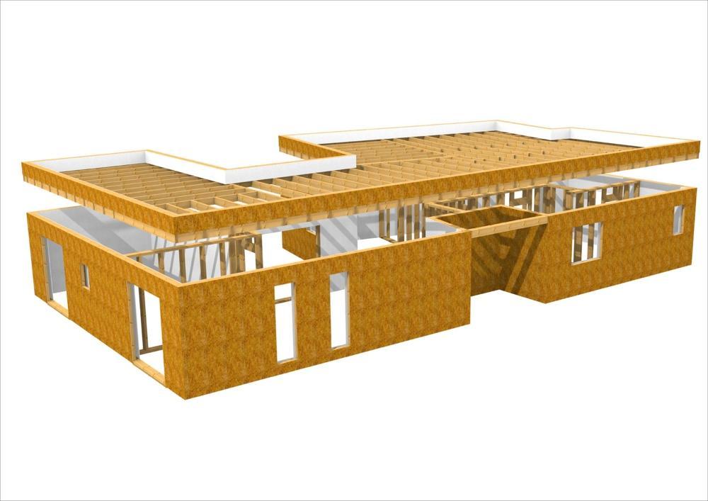 Case prefabbricate in legno progetto france 200 - versione standard