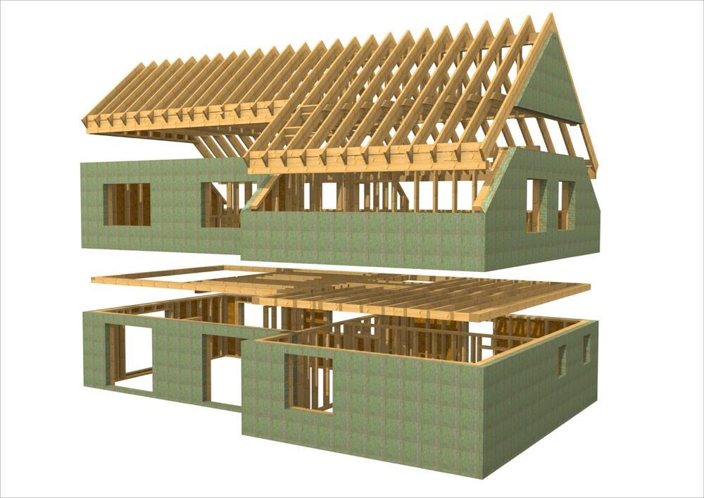 Case prefabbricate in legno progetto france 200 - versione casa passiva