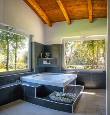 Casa in legno prefabbricato Terni di L.A.COST srl - bagno