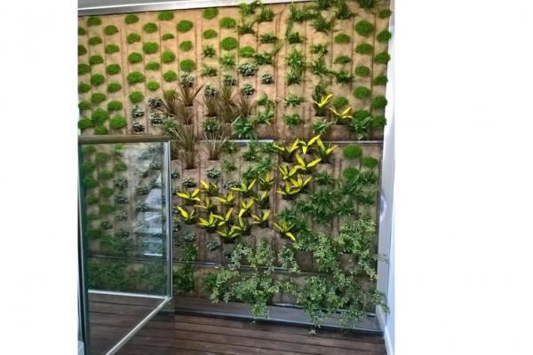 Giardino verticale realizzazione - Pellegrini Giardini