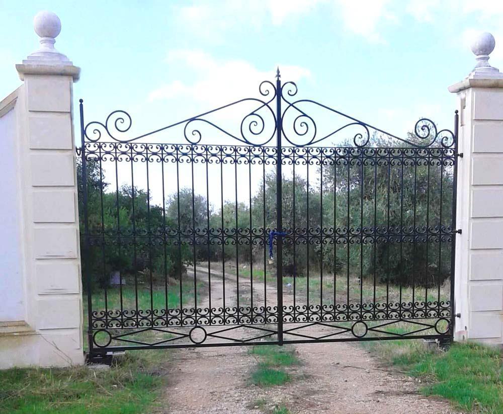 Cancello ferro battuto stile classico- Officine RUIU