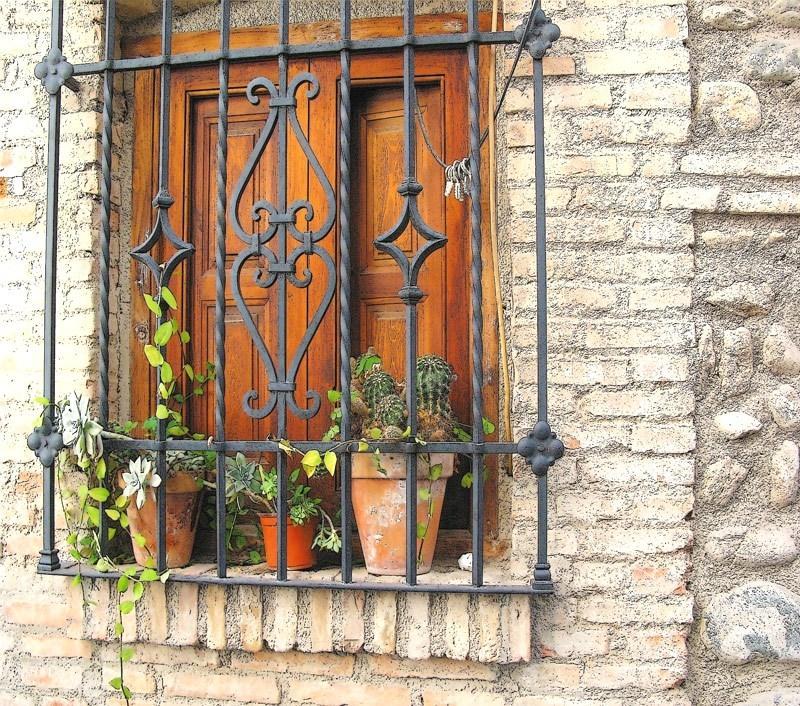 Cancello ferro battuto per finestra - Officine RUIU