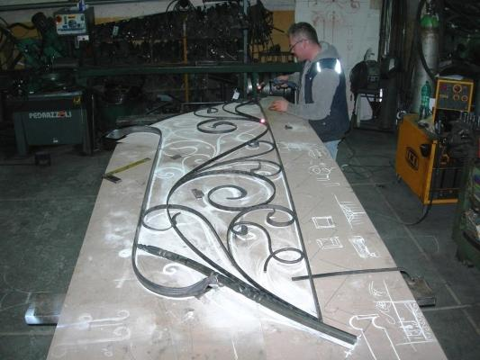 Cancellate ferro battuto: lavorazioni Cipriani