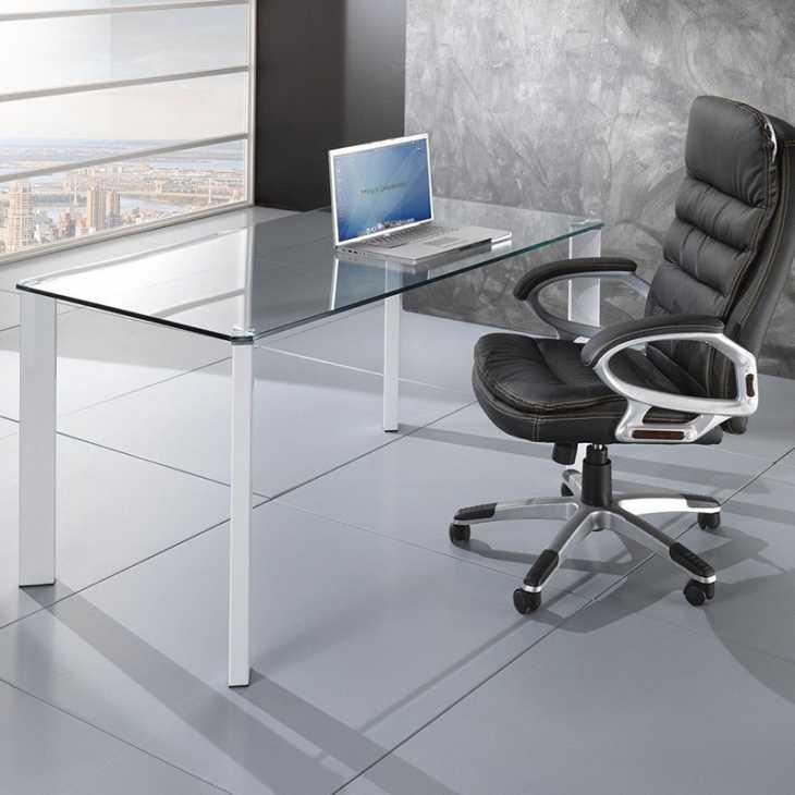 Tavolo scrivania in vetro per ufficio Roxanne - Smart Arredo