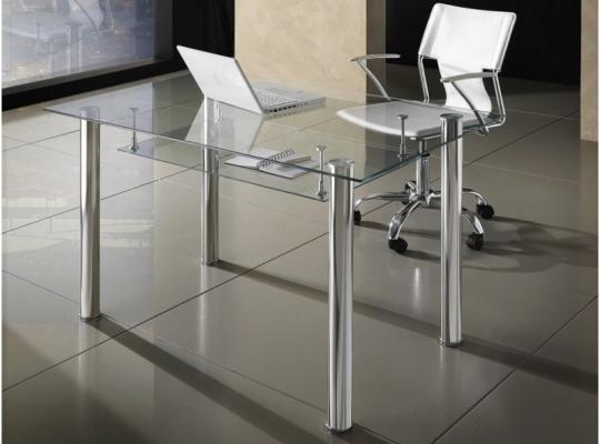 Scrivania moderna modello Roland per ufficio in vetro