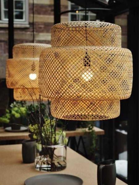 Lampada Ikea in bamboo a sospensione