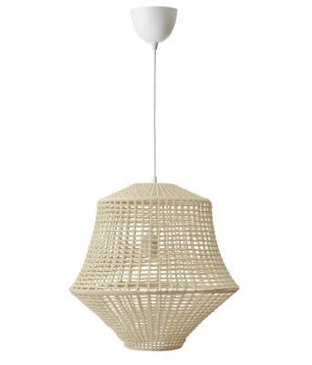 Illuminazione Ikea: lampadario sospeso Industriell in bamboo