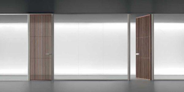 Al Salone del Mobile: interparete per cabina armadio Spazio Sail, Rimadesio
