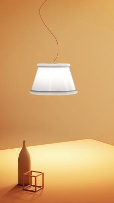 Nuovo look per la lampada Ivette, disegnata da Pamio Design per Fabbian - Euroluce 2019