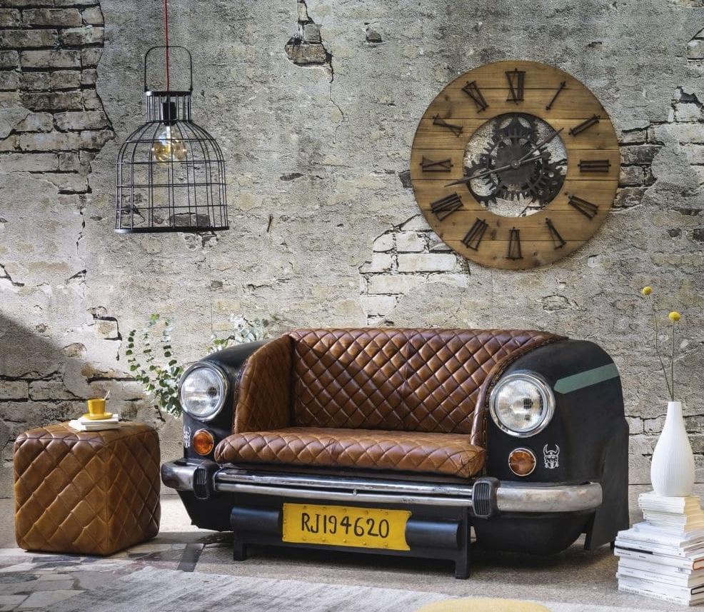 Divano originale in stile industriale, da Maisons du Monde