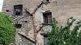Edificio storico con sistema di smaltimento delle acque nere in tubazioni di ceramica