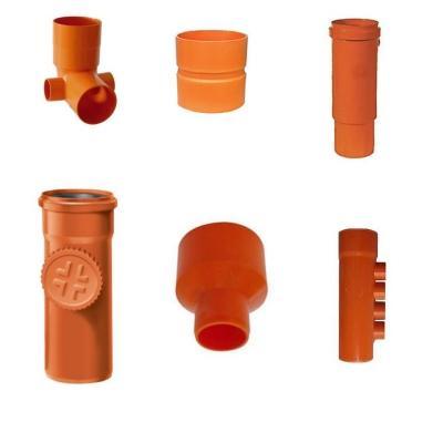 Pezzi speciali per tubazioni in pvc serie rossa per acque nere, di Erre Gross