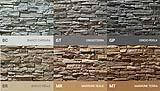 Palette della collezione di pietra artificiale Scaglia di Geopietra