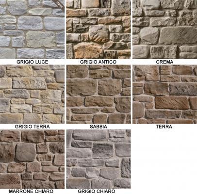 Collezione di pietra ricostruita Arenal di Colmef