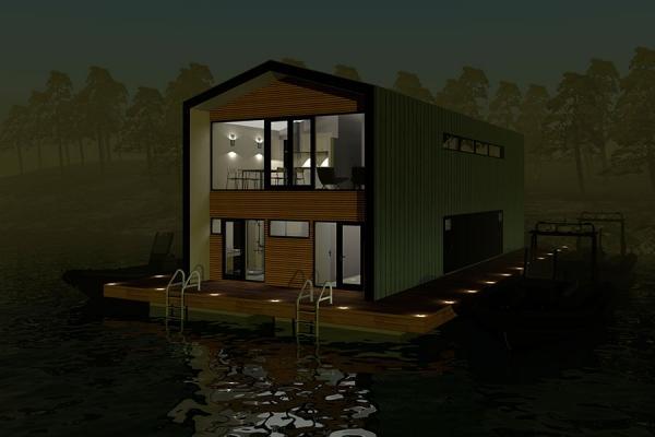 Casa galleggiante in stile contemporaneo di Bluet