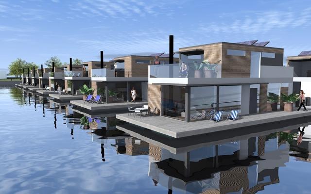 Proposta di un villaggio di case galleggianti by Bluet