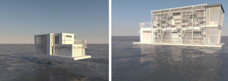 Un progetto di casa galleggiante by Polistudio A.E.S.