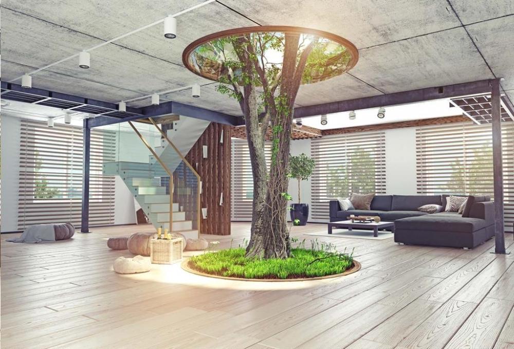 Giardino interno con pozzo di luce - Officina del Verde