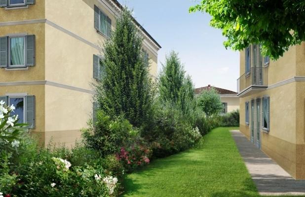 Giardino in cortile - Officina del Verde