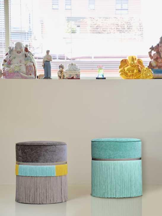 I pouf con le frange Couture di Lorenza Bozzoli