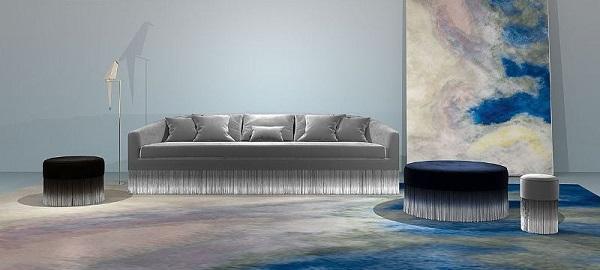 Il divano con le frange Amami di Lorenza Bozzoli