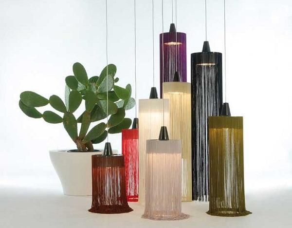 Le lampade con frange Swing di Nicola Nerboni